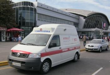 Медицинская перевозка больного из аэропорта «Борисполь» в больницу г. Гомель